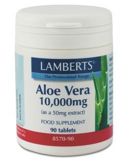 Aloe Vera 10000 mg tabletter (aloevera blad extrakt koncentrerat kosttillskott) (90 tabletter)