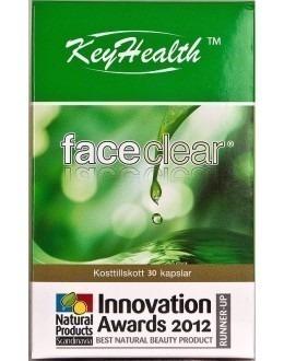 FACECLEAR - Laktoferrin kosttillskott för / mot oren hy och finnar - 30 kapslar