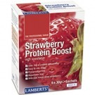 STRAWBERRY PROTEIN BOOST POWDER (WHEY PROTEIN SUPPLEMENT) (6X30g Sachets)