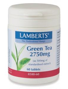 Grönt Te Extrakt 2750mg (Camellia polyfenoler kosttillskott) (60 tabletter)