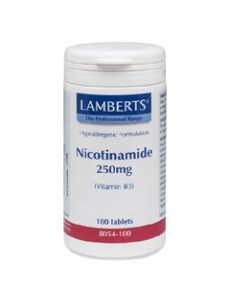 NIACIN som nikotinamid (vitamin B3) 250mg (100 tabletter)