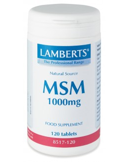MSM 1000mg (metylsulfonylmetan) kostillskott (120 tabletter)