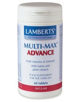 MULTI-MAX ADVANCE (Multivitamin för äldre vuxna med antioxidanter) (120 tabletter) - 4 mån. förbrukning