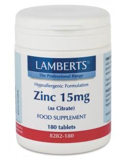 ZINK 15mg (som zinkcitrat) (180 tabletter)