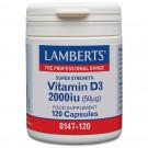 Vitamin D (kolekalciferol D3) 2000iu (50µg) - 120 kapslar
