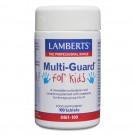 Multiguard for kids (Tuggbara en om dagen multi vitaminer kosttillskott för barn) (100 tabletter)