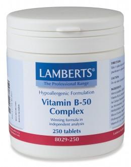 Vitamin B-50 KOMPLEX kosttillskott (250 tabletter)