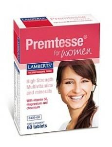PREMTESSE (Multivitamin för kvinnors hud + motverkar PMS) (60 tabletter)