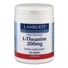 Lamberts L-Teanin 200mg kosttillskott - 60 tabletter